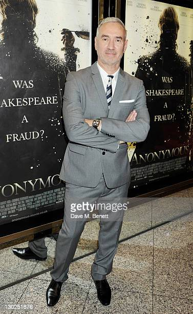 Director Roland Emmerich attends the premiere of 'Anonymous' during the 55th BFI London Film Festival at Empire Leicester Square on October 25 2011...