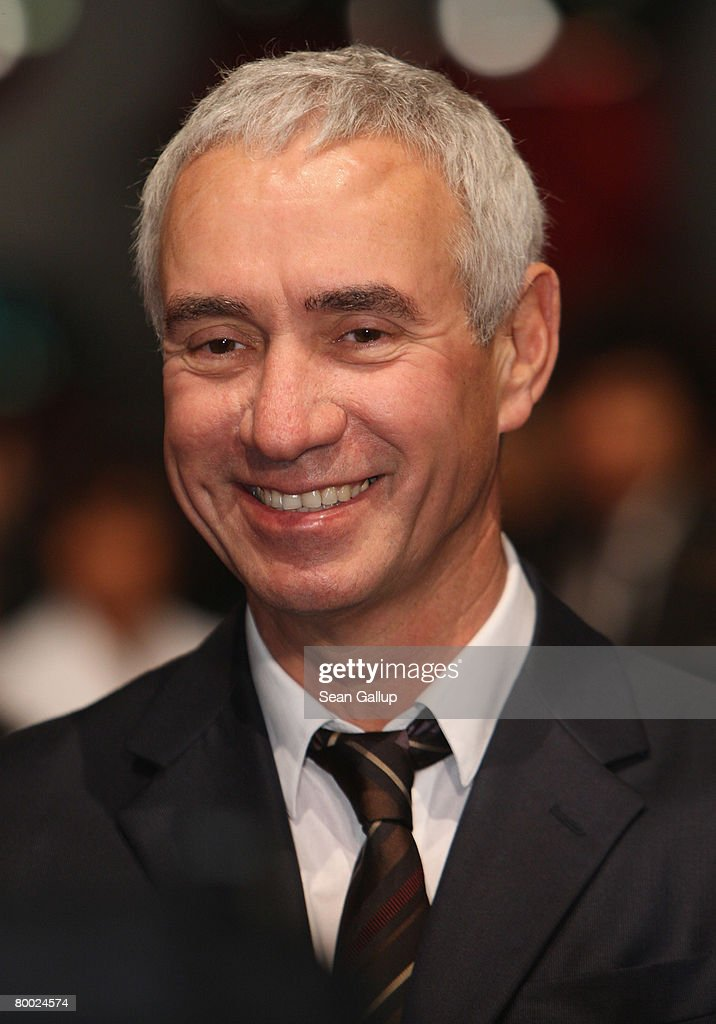 Director Roland Emmerich attends the world premiere of '10,000 B.C.' at the Sony Center CineStar on February 26, 2008 in Berlin, Germany.