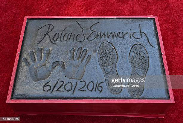 Director Roland Emmerich is honored with hand and footprint ceremony at 20th Century Fox's 'Independence Day Resurgence' at TCL Chinese Theatre on...