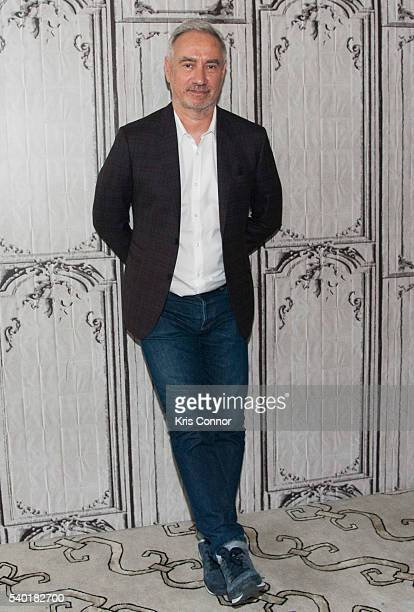 Director Roland Emmerich poses for photo during the AOL Build Speaker Series at AOL Studios on June 14 2016 in New York City
