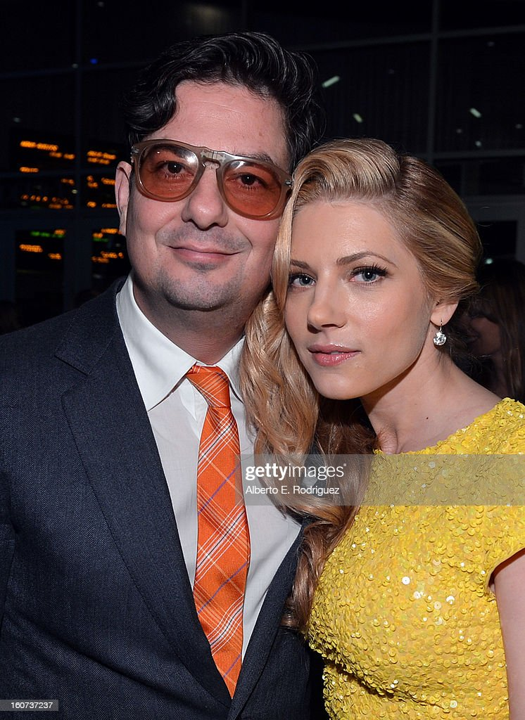 Director Roman Coppola and actress Katheryn Winnick attend the Los Angeles premiere of A24's 'A Glimpse Inside The Mind Of Charles Swan III' at ArcLight Hollywood on February 4, 2013 in Hollywood, California.