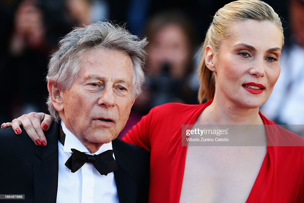 Director Roman Polanski and actress Emmanuelle Seigner attend the 'La Venus A La Fourrure' premiere during The 66th Annual Cannes Film Festival at Theatre Lumiere on May 25, 2013 in Cannes, France.