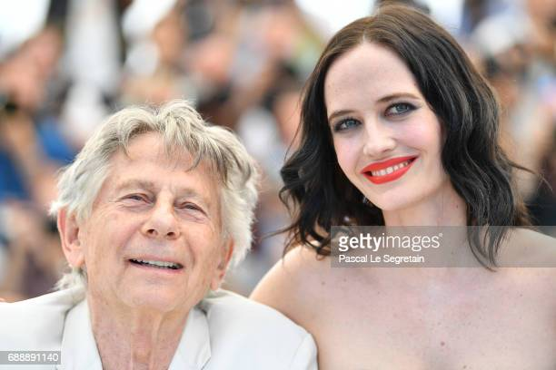 Director Roman Polanski and actress Eva Green attend the 'Based On A True Story' photocall during the 70th annual Cannes Film Festival at Palais des...