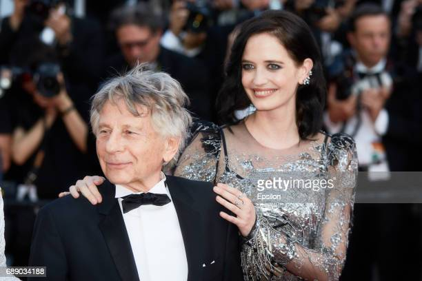 Director Roman Polanski and Emmanuelle Seigner attend the 'Based On A True Story' screening during the 70th annual Cannes Film Festival at Palais des...