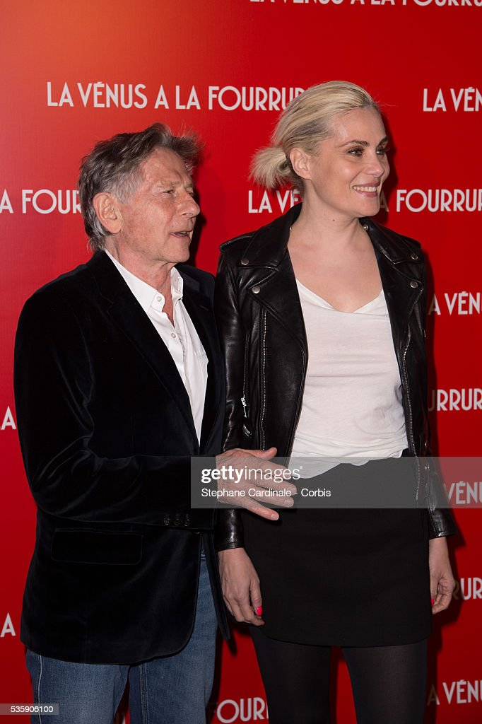 Director Roman Polanski and his wife Emmanuelle Seigner attend 'La Venus A La Fourrure' (Venus In Fur) Premiere at Cinema Gaumont Marignan, in Paris.