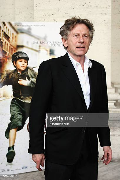 """Director Roman Polanski attends a photocall to promote his latest movie """"Oliver Twist"""" at the Cinema Warner Moderno on October 20, 2005 in Rome,..."""
