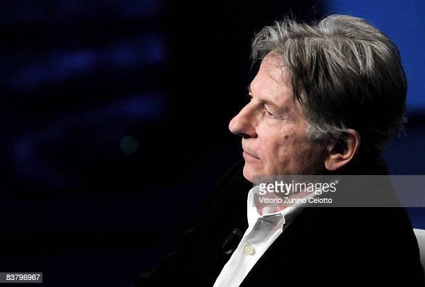 Director Roman Polanski attends Che Tempo Che Fa TV Show held at RAI Studios on November 23 2008 in MIlan Italy
