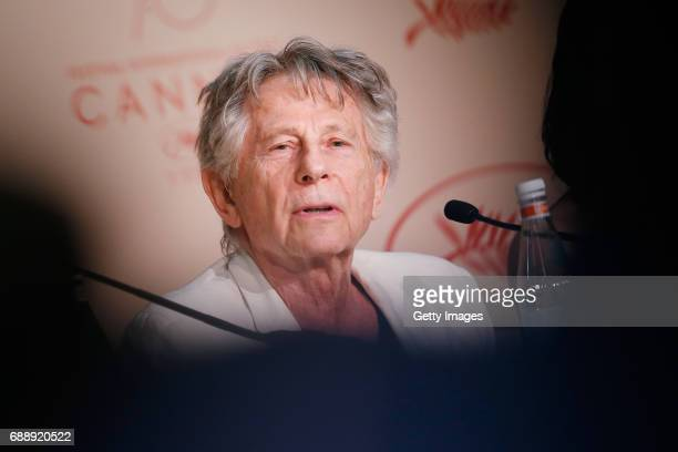 Director Roman Polanski attends the Based On A True Story press conference during the 70th annual Cannes Film Festival at Palais des Festivals on May...