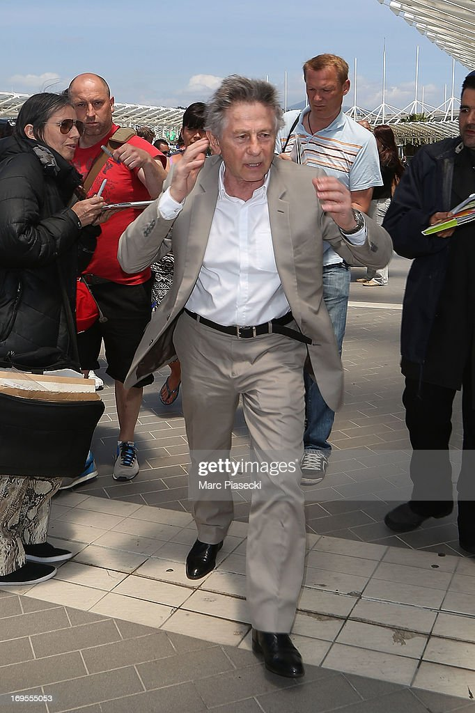 Director Roman Polanski is sighted at Nice airport after the 66th Annual Cannes Film Festival on May 27, 2013 in Nice, France.