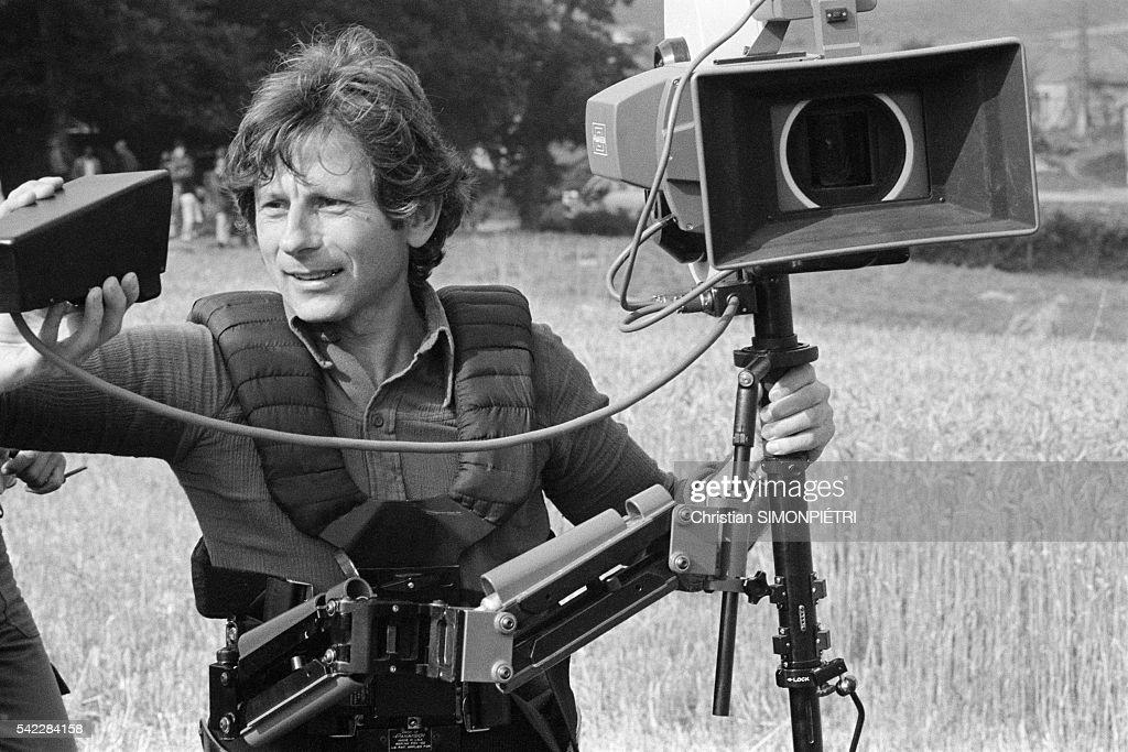 director roman polanski on the set of his movie tess news