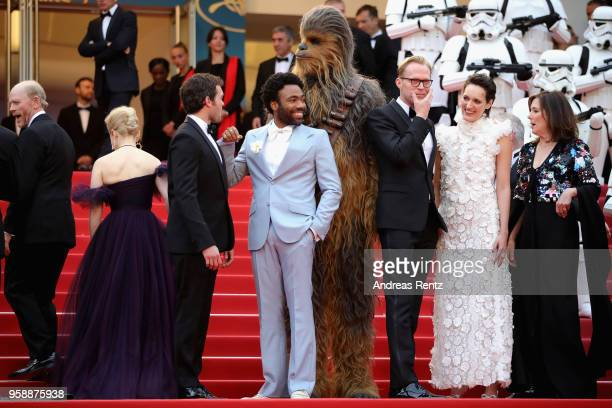 Director Ron Howard actress Emilia Clarke actor Alden Ehrenreich actor Donald Glover Chewbacca actor Paul Bettany actress Phoebe WallerBridge and...