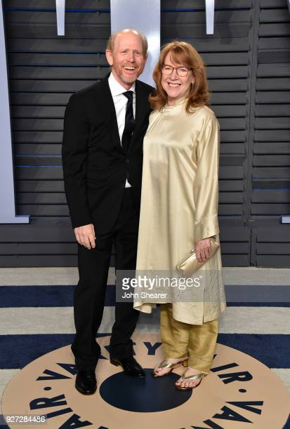Director Ron Howard and actress Cheryl Howard attend the 2018 Vanity Fair Oscar Party hosted by Radhika Jones at Wallis Annenberg Center for the...