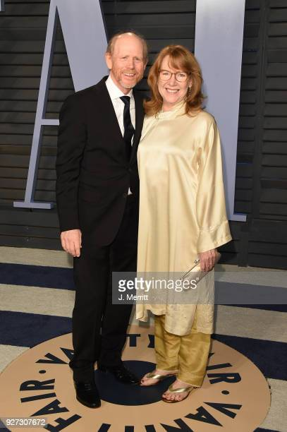 Director Ron Howard and actress Cheryl Howard attend the 2018 Vanity Fair Oscar Party hosted by Radhika Jones at the Wallis Annenberg Center for the...