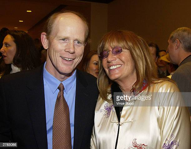 Director Ron Howard and actress Penny Marshall attend the first Annual Oceana Partners Awards Dinner December 3 2003 in Los Angeles California