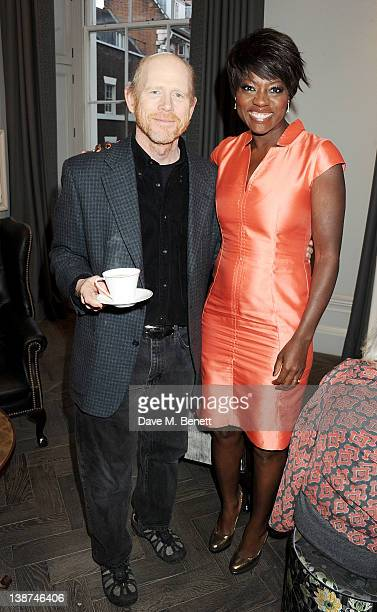 Director Ron Howard and actress Viola Davis attend the Dreamworks PreBAFTA Tea Party in celebration of 'The Help' and 'War Horse' at The Arts Club on...