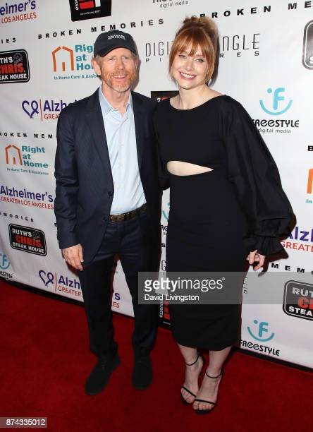 Director Ron Howard and daughter actress Bryce Dallas Howard attend a benefit screening of Digital Jungle Pictures' 'Broken Memories' at the Writers...