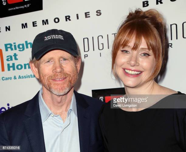 Director Ron Howard and daughter actress Bryce Dallas Howard attend a benefit screening of Digital Jungle Pictures' Broken Memories at the Writers...