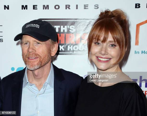 """Director Ron Howard and daughter actress Bryce Dallas Howard attend a benefit screening of Digital Jungle Pictures' """"Broken Memories"""" at the Writers..."""