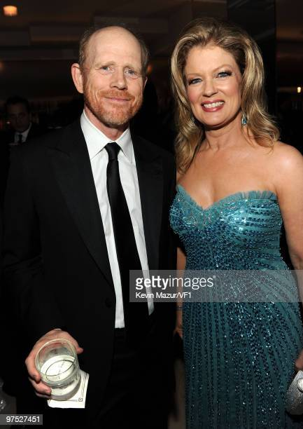 Director Ron Howard and TV personality Mary Hart attend the 2010 Vanity Fair Oscar Party hosted by Graydon Carter at the Sunset Tower Hotel on March...