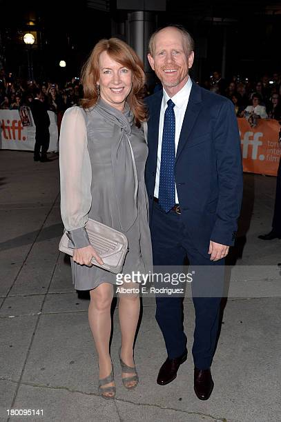 Director Ron Howard and wife Cheryl Howard attend the Rush premiere during the 2013 Toronto International Film Festival at Roy Thomson Hall on...