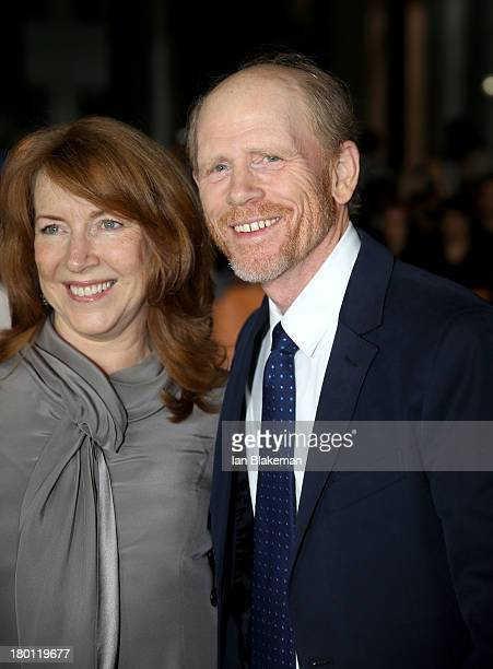 Director Ron Howard and wife Cheryl Howard attend the 'Rush' premiere during the 2013 Toronto International Film Festival at Roy Thomson Hall on...