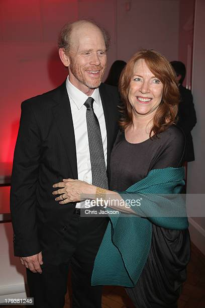 Director Ron Howard and wife Cheryl Howard attend the Rush world premiere after party at One Marylebone on September 2 2013 in London England