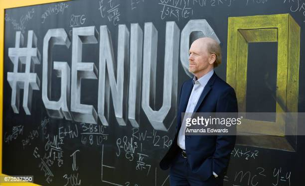 Director Ron Howard arrives at the premiere of National Geographic's Genius at the Fox Bruin Theater on April 24 2017 in Los Angeles California
