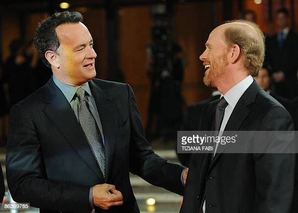 """Director Ron Howard arrives with Tom Hanks for the world premiere of the film """"Angels & Demons"""" at Audutorium in Rome on May 4,2009. Angels & Demons..."""