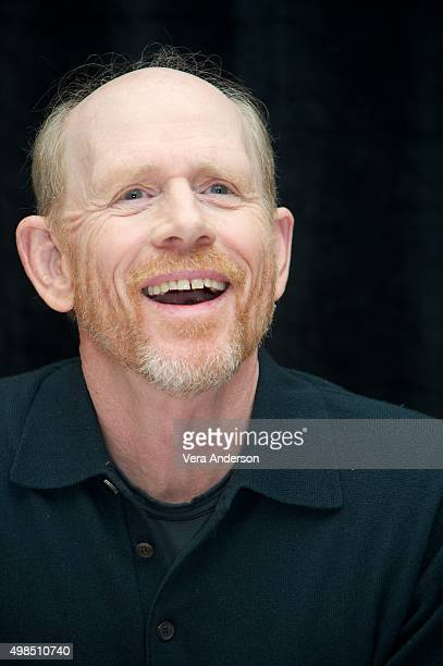 Director Ron Howard at the In The Heart Of The Sea press conference at the RitzCarlton New York Central Park on November 20 2015 in New York City