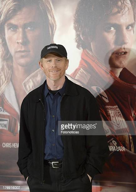 Director Ron Howard attends a photocall for 'Rush' at Villamagna Hotel on August 19 2013 in Madrid Spain