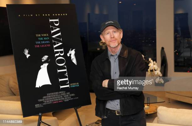 """Director Ron Howard attends a special screening of the film """"Pavarotti"""" on May 18, 2019 in Los Angeles, California."""