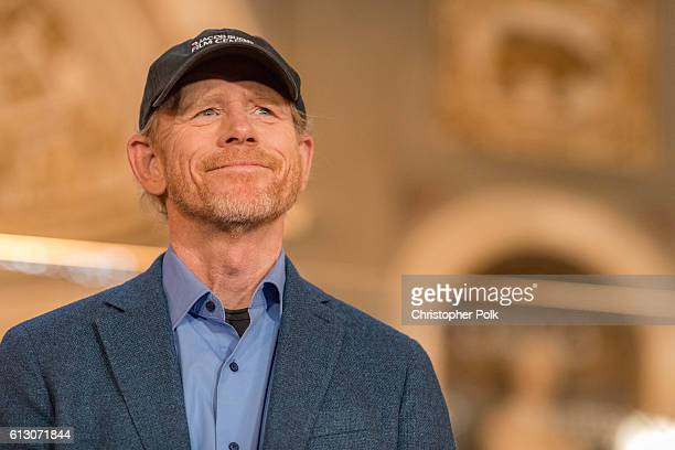 Director Ron Howard attends the INFERNO Photo Call Press Conference at The Hall of the Five Hundred on October 6 2016 in Florence Italy