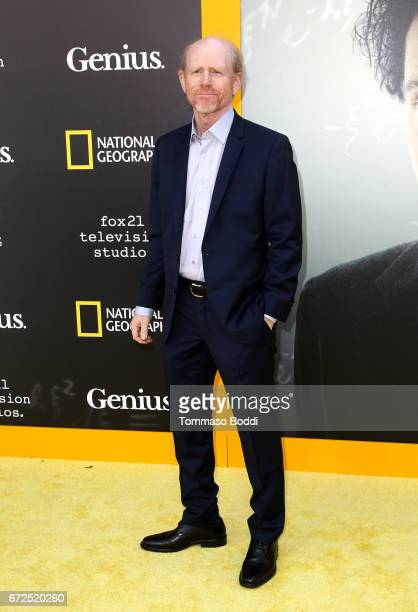 Director Ron Howard attends the Los Angeles Premiere Screening of National Geographics 'Genius' the Fox Theater on April 24 2017 in Los Angeles...