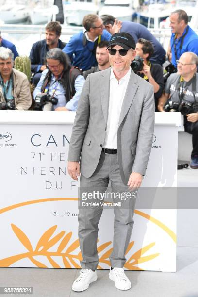 Director Ron Howard attends the photocall for 'Solo A Star Wars Story' during the 71st annual Cannes Film Festival at Palais des Festivals on May 15...
