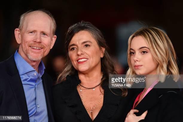 Director Ron Howard, Giuliana Pavarotti, the daughter of late Italian tenor Luciano Pavarotti and Luciano Pavarotti's granddaughter Caterina Lo Sasso...