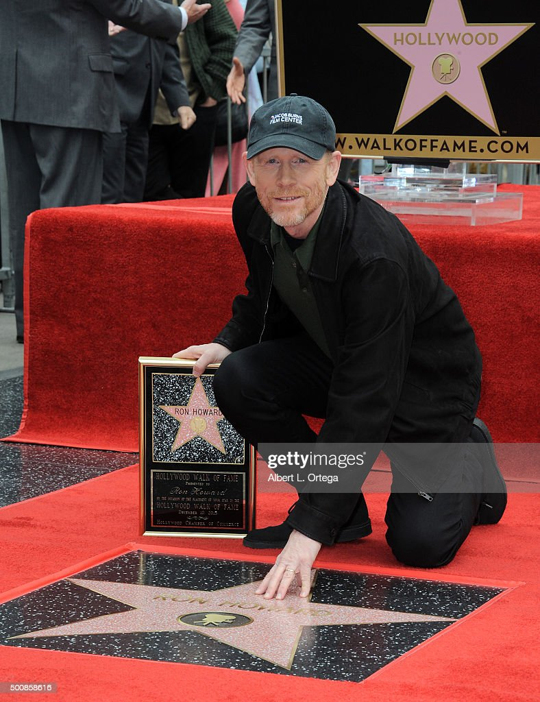 Director Ron Howard Honored With Star On The Hollywood Walk Of Fame on December 10, 2015 in Hollywood, California.