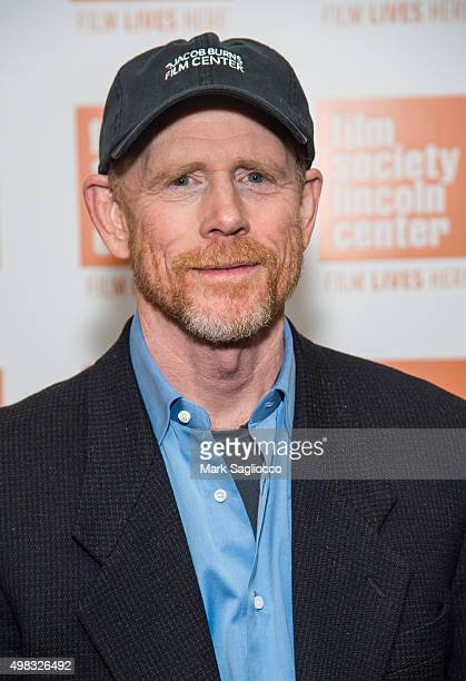 Director Ron Howard in conversation at The Film Society of Lincoln Center on November 22 2015 in New York City
