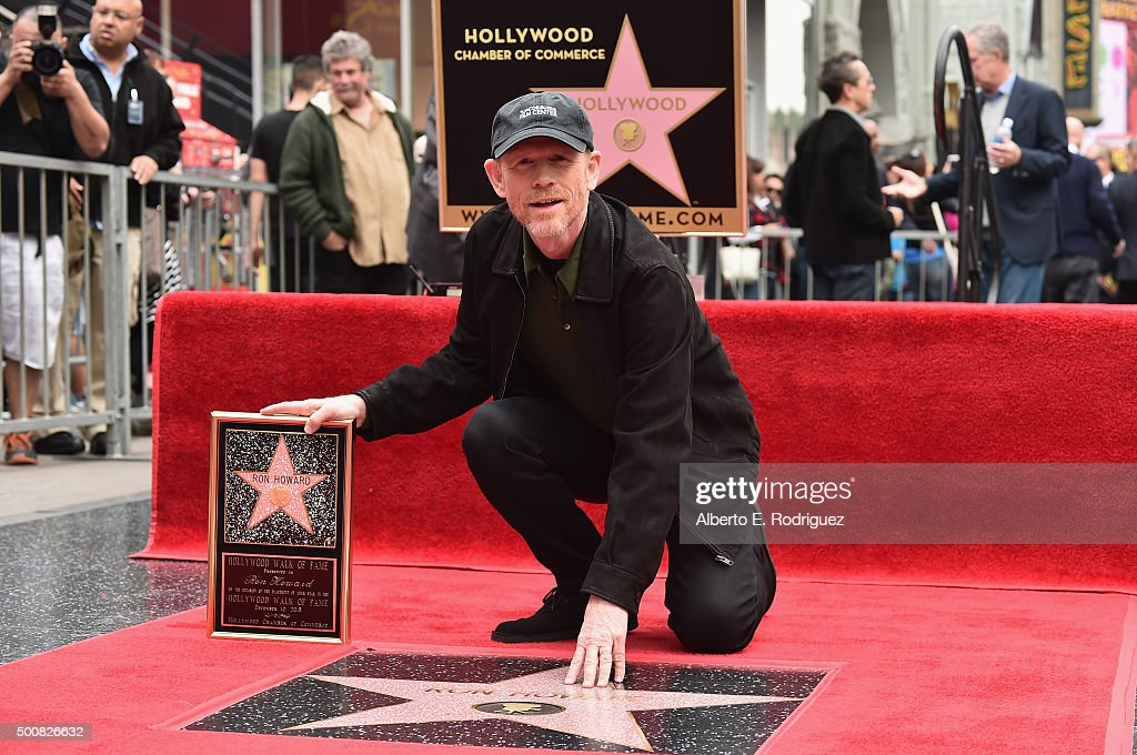Director Ron Howard is honored with a star on the Hollywood Walk of Fame on December 10, 2015 in Hollywood, California.