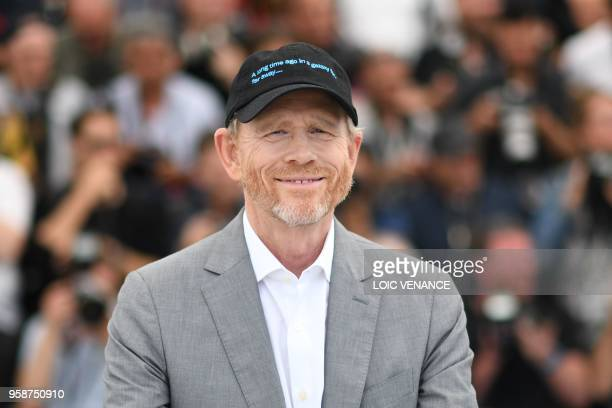 """Director Ron Howard poses on May 15, 2018 during a photocall for the film """"Solo : A Star Wars Story"""" at the 71st edition of the Cannes Film Festival..."""