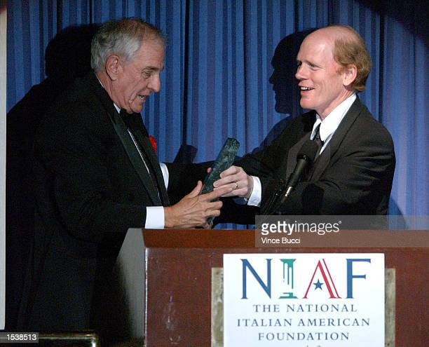 Director Ron Howard presents director Garry Marshall with a career achievement award at the National Italian American Foundation's West Coast Awards...