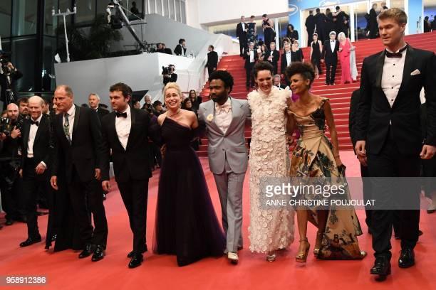 US director Ron Howard US producer Kathleen Kennedy US actor Woody Harrelson US actor Alden Ehrenreich British actress Emilia Clarke US actor Donald...