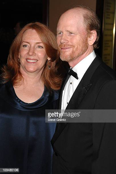 Director Ron Howard with wife Cheryl Howard arrive at the 61st Annual DGA Awards at the Hyatt Regency Century Plaza on January 31 2009 in Los Angeles...