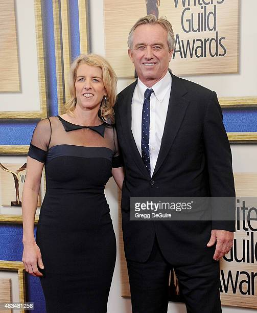 Director Rory Kennedy and brother Robert F Kennedy Jr arrive at the 2015 Writers Guild Awards LA Ceremony at the Hyatt Regency Century Plaza on...