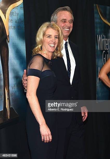 Director Rory Kennedy and Robert F Kennedy Jr attend the 2015 Writers Guild Awards LA Ceremony at the Hyatt Regency Century Plaza on February 14 2015...