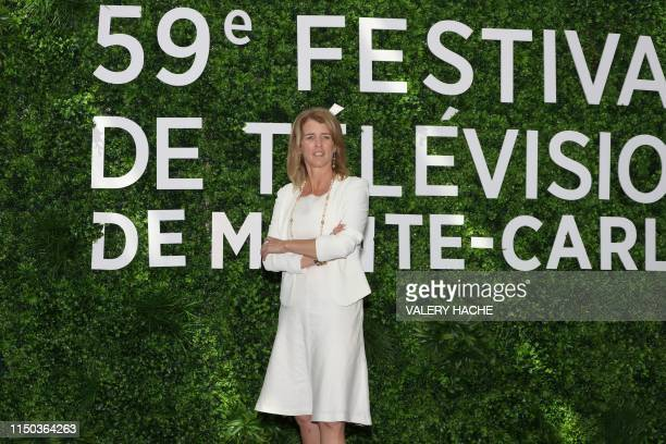 US director Rory Kennedy poses during a photocall as part of the 59th MonteCarlo Television Festival on June 17 2019 in Monaco