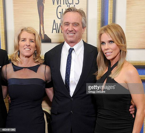 Director Rory Kennedy Robert F Kennedy Jr and actress Cheryl Hines arrive at the 2015 Writers Guild Awards LA Ceremony at the Hyatt Regency Century...