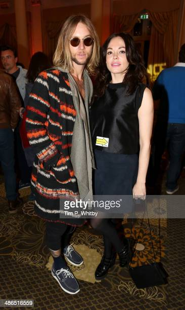 Director Rose McGowan and Greg Cipes attend the Big Sundance London Party to kick off the Sundance London Film and Music Festival 2014 at The Langham...