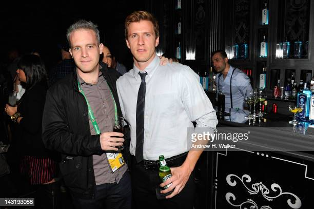 Director Ross Cohen and actor Patrick Heusinger attend the Short Filmmaker Party during the 2012 Tribeca Film Festival at the House of Imagination on...