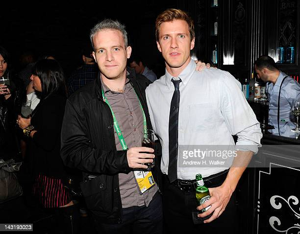 Director Ross Cohen and actor Patrick Heusinger attend the Tribeca Film Festival Shorts Filmmaker Party hosted by Bombay Sapphire at the Bombay...