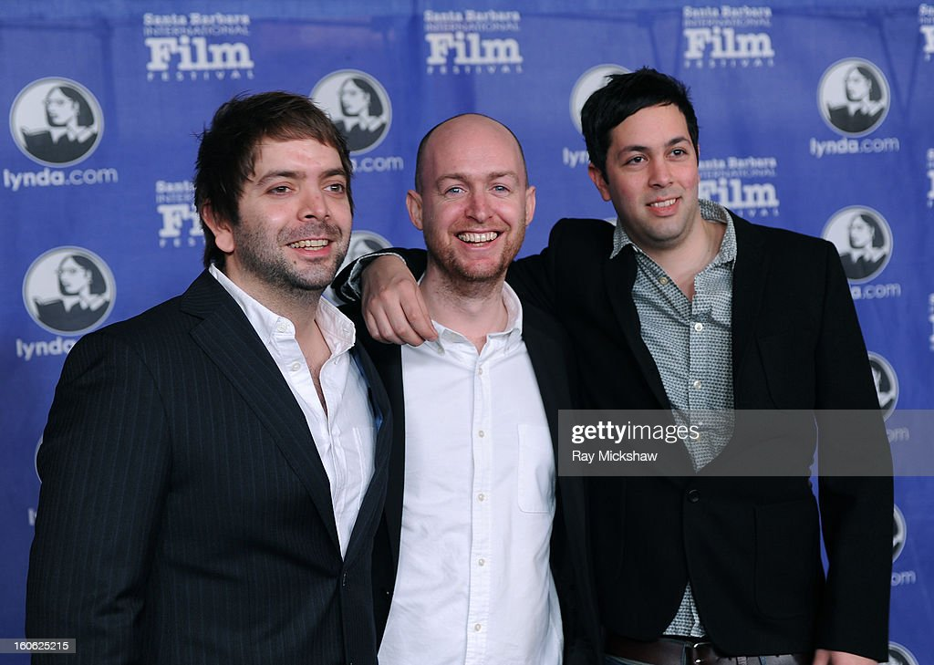 Director Rowan Athale, cinematographer Stuart Bentley and composer Neil Athale attend a screening of 'Wasteland' on February 3, 2013 in Santa Barbara, California.